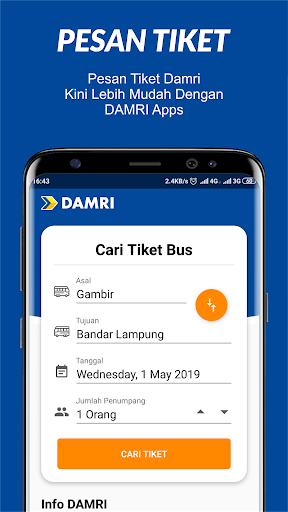 damri apps screenshot 1