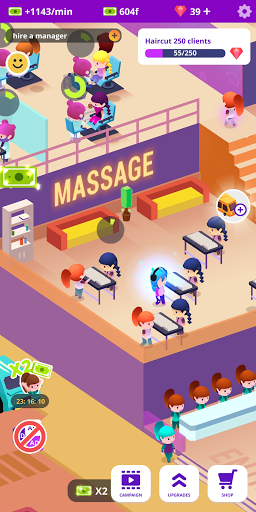 Idle Beauty Salon: Hair and nails parlor simulator apkslow screenshots 6