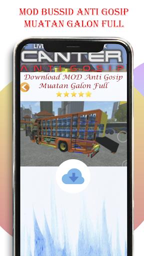 Livery Bussid Mod Truck Canter Anti Gosip  Screenshots 3