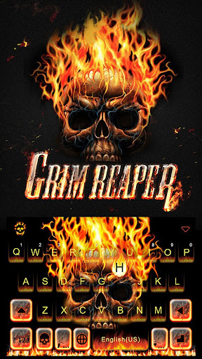 Grim Reaper Keyboard Theme 23.0 screenshots 2