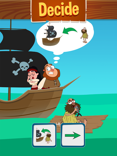 Save The Pirate! Make choices - decide the fate  screenshots 8