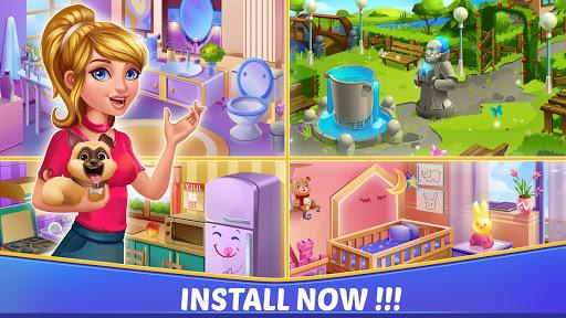 Home Interior Design House Mansion Match 3 Blast  screenshots 4