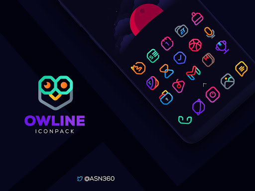 Download APK: Owline Icon pack v1.0.9 [Patched]
