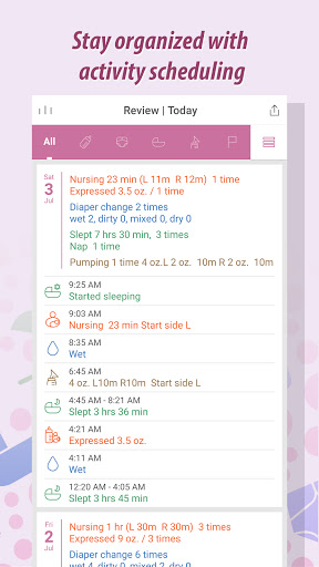 Baby Tracker - Newborn Feeding, Diaper, Sleep Log  screenshots 2