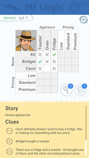Mr Logic - Brain Puzzles apkpoly screenshots 1