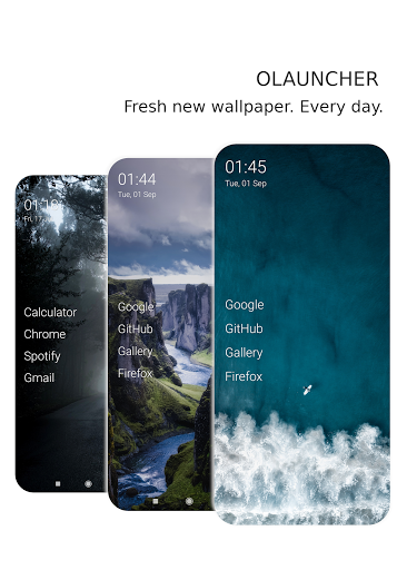 Olauncher | Minimal AF android2mod screenshots 2