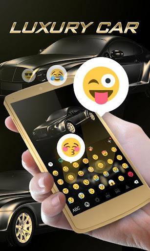 luxury car go keyboard theme screenshot 3