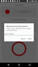 Camera Heart Rate Variability screenshot thumbnail