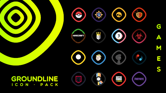 Groundline Icon Pack APK Paid 5