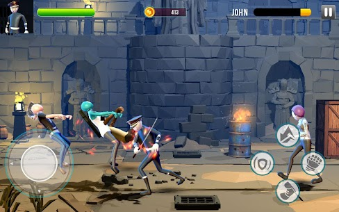 Stickman Street Fighter : Stick Fight War Hack for iOS and Android 1