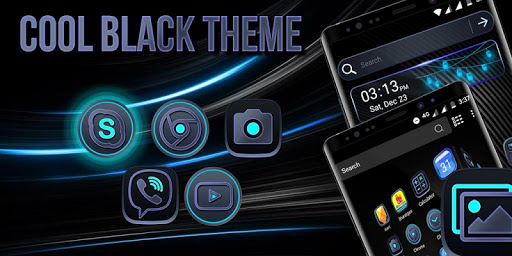 Cool Black Launcher Theme modavailable screenshots 2