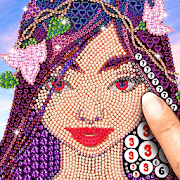 Tap diamond number coloring – relax and art