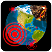 3D Earthquakes Map & Volcanoes
