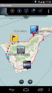 inViu routes GPS tracker OSM