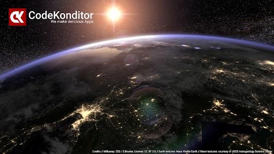 Earth & Moon in HD Gyro 3D PRO Parallax Wallpaper 2