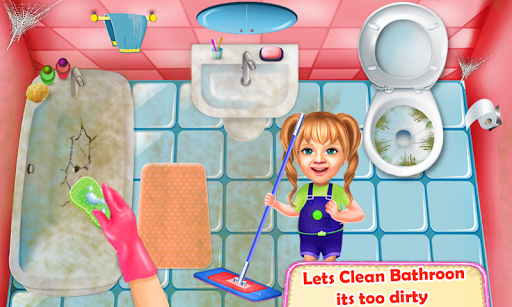 Sweet Baby Girl Cleaning Games 2021: House Cleanup screenshots 3