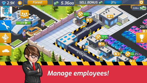 Télécharger Idle Car Factory: Car Builder, Tycoon Games 2020 apk mod screenshots 4