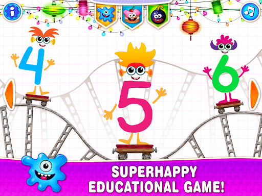 Learning numbers for kids! Writing Counting Games! apkslow screenshots 7