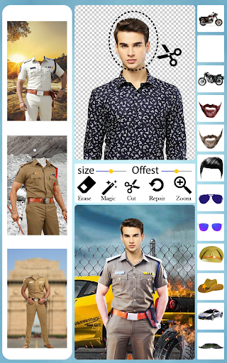 Men Police Suit Photo Editor android2mod screenshots 4