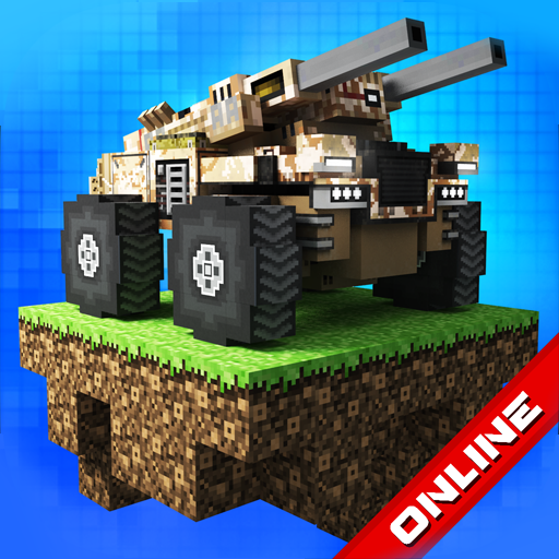 Blocky Cars: tank wars