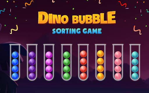 Color Ball Sort Puzzle - Dino Bubble Sorting Game  screenshots 24