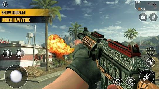 Anti-Terrorist FPS Shooting Mission:Gun Strike War Mod Apk (God Mode) 1