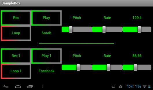 Sample Box Capture d'écran