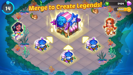 Merge Mermaids-design home&create magic fish life. 1.0.8 screenshots 1