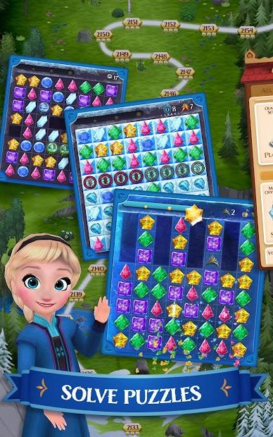 Disney Frozen Free Fall - Play Frozen Puzzle Games screenshot 6