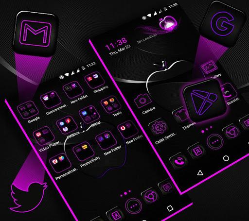 Crystal Black Apple Launcher Theme modavailable screenshots 1