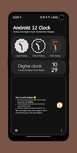 Android 12 Clock (MOD APK, AD-Free) v1.7 1