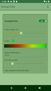 Bluelight Filter Screenshot