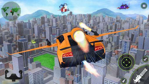 Flying car Shooting: Ultimate car Flying simulator 1.6 screenshots 3