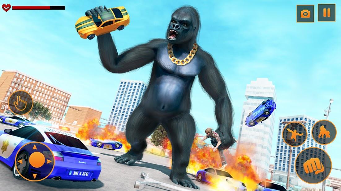 Screenshot 2 de Angry Monster Gorilla - Godzilla King Kong Games para android