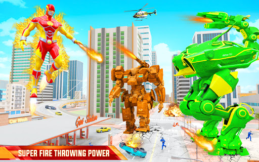 Flying Police Robot Fire Hero: Gangster Crime City  screenshots 18