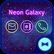 Stylish Wallpaper Neon Galaxy Theme