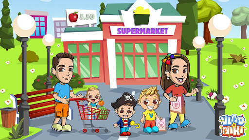 Vlad & Niki Supermarket game for Kids  screenshots 1