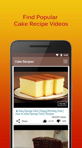 Cake Recipes Videos screenshot