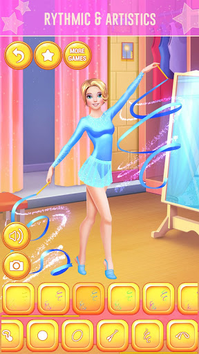 u2605 Gymnastics Games for Girls - Dress Up u2605 screenshots 2