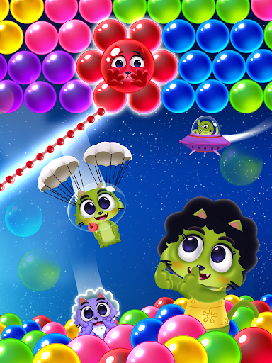 Space Cats Pop - Kitty Bubble Pop Games apkmr screenshots 11
