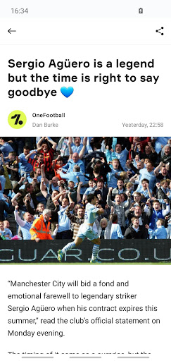 OneFootball - Soccer News, Scores & Stats  APK screenshots 2