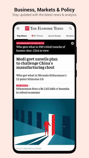 The Economic Times: Sensex, Market & Business News modiapk screenshots 1