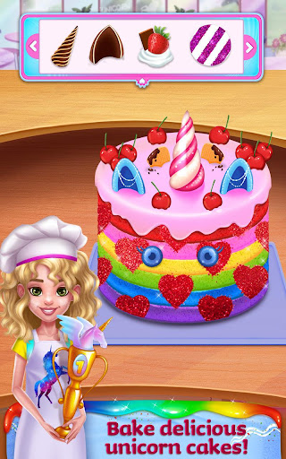 Unicorn Food - Rainbow Glitter Food & Fashion  screenshots 1