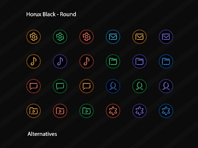 Horux Black APK- Round Icon Pack (PAID) Download 4