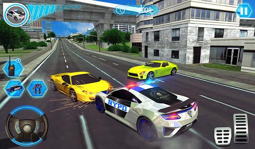 US Police Car Real Robot Transform: Robot Car Game android2mod screenshots 23