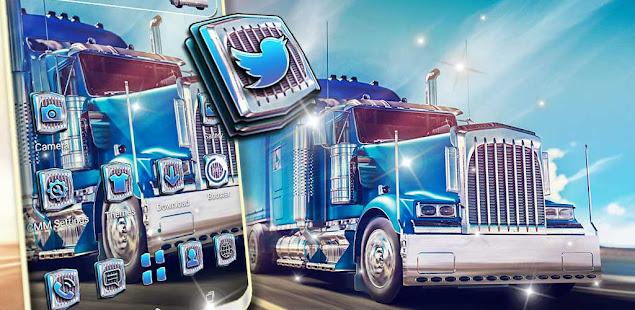 Blue Truck Launcher Theme