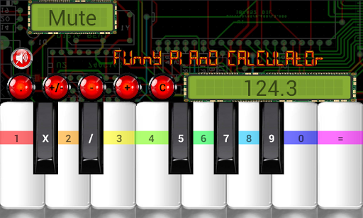 funny piano calculator screenshot 2
