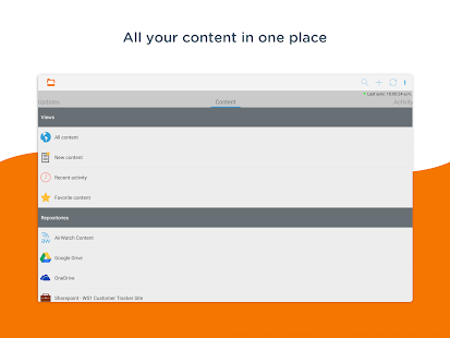 Content - Workspace ONE Screenshot