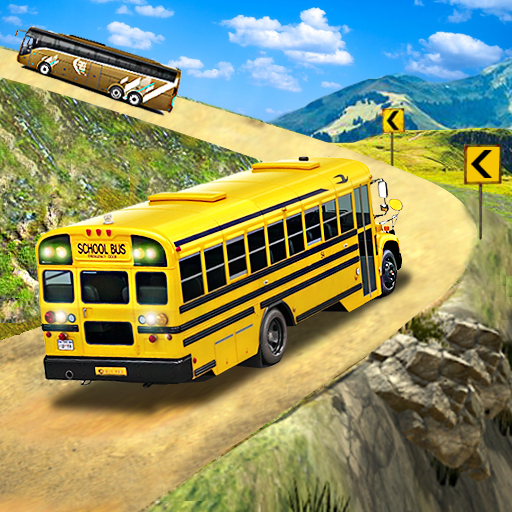 Baixar Offroad School Bus Driving: Flying Bus Games 2020 para Android