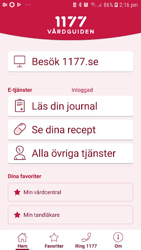 1177 Vu00e5rdguiden 1.0.5 Screenshots 4